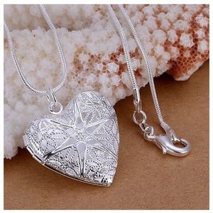 925 Sterling Silver love lady  Heart Necklace